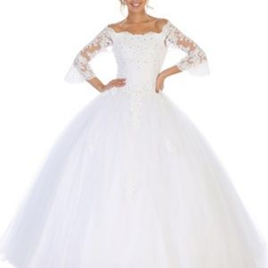 New wedding gown. Bridal formal dress